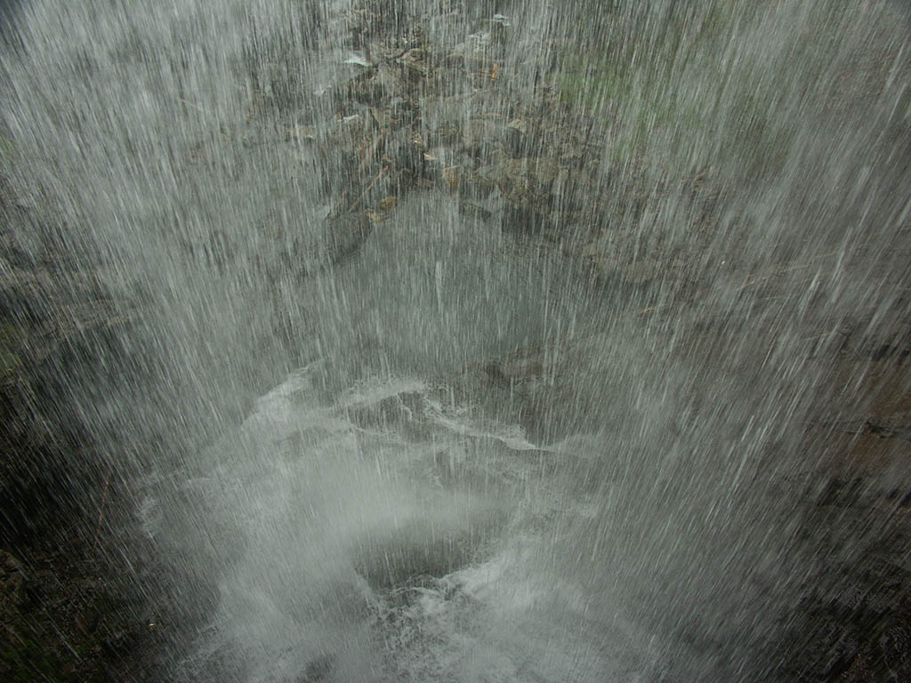 Behind a waterfall at Giessbach, Switzerland