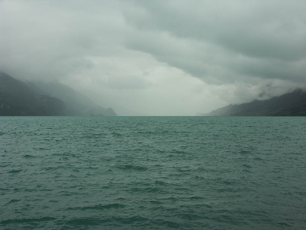 Lake Brienz, seen from Brienz, Switzerland