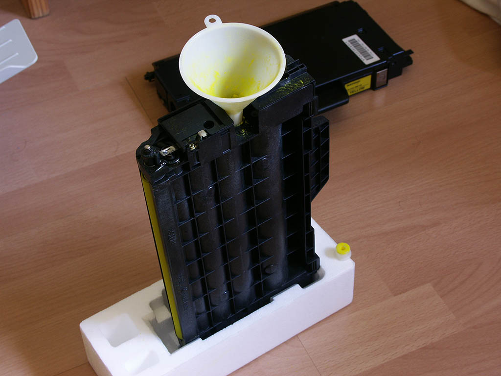 Refilling my toner cartridges with residual toner from empty cartridges