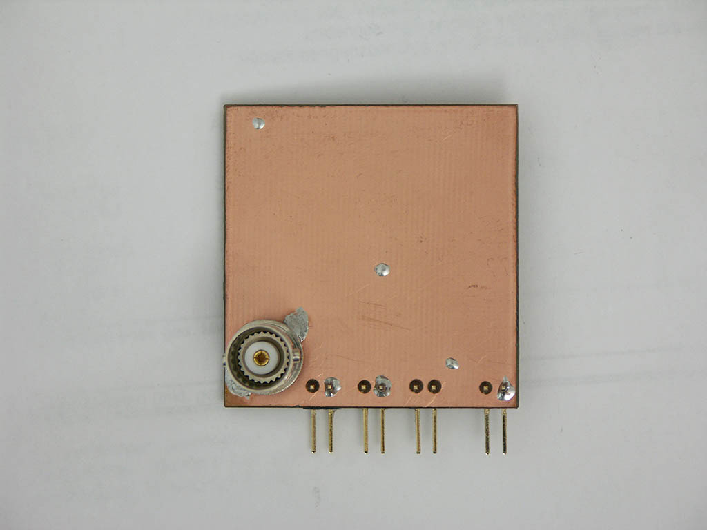 High-voltage PCB of a low-power 800 to 2400 Volt step-up circuit with cascade, designed as power supply for self-made Geiger Mueller tube