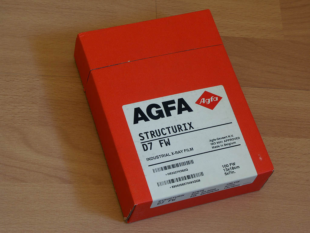 AGFA Structurix Xray film, more sensitive than what i used before
